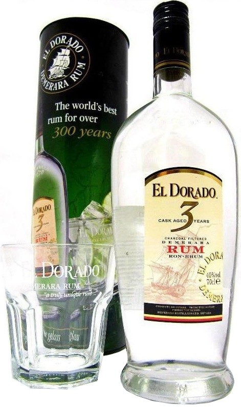 El Dorado 3 Years Old Cask Aged gift tube with glass 0.7 л