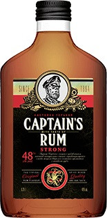Captain`s Rum, Strong, Bitter, Flask