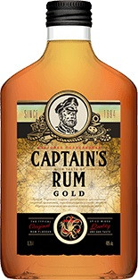 Captain`s Rum, Gold, Bitter, Flask