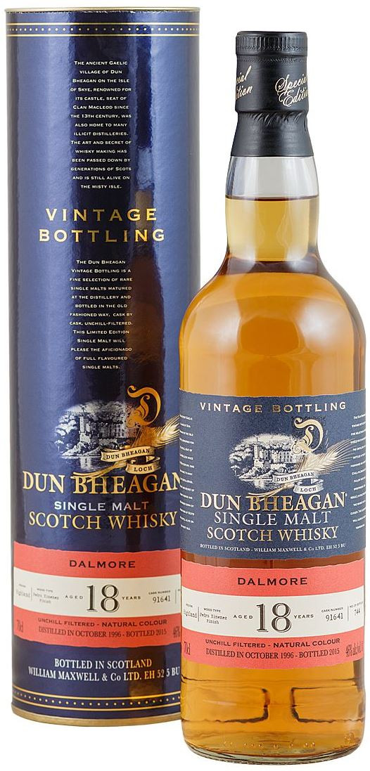 Dun Bheagan Dalmore 18 Years Old 46 in tube 0.7 л