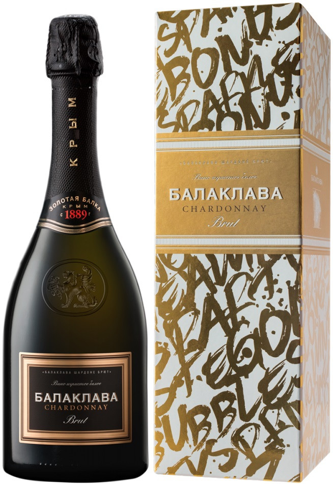Wine Balaklava Chardonnay Brut gift box Party 750 мл