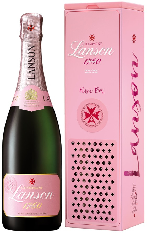 Lanson, Rose Label, Brut Rose, gift box, Music Box | Лансон, Розе Лейбл, Брют Розе, п.у., Мьюзик Бокс
