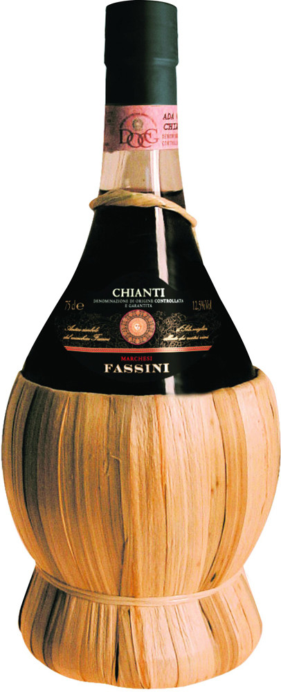 Fassini Chianti, in straw basket
