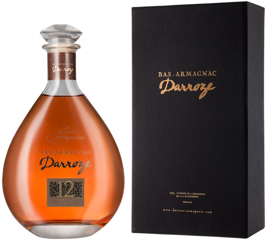 Darroze Les Grands Assemblages 12 ans d age Bas-Armagnac in decanter gift box 0.7 л