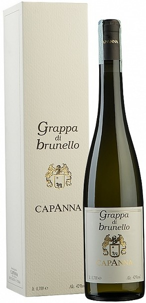 Capanna Grappa di Brunello gift box 0.7 л
