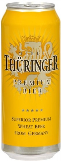 Thuringer, Weissbier, in can