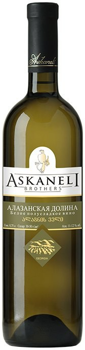 Askaneli Brothers, Alazany Valley, White, Semi-sweet