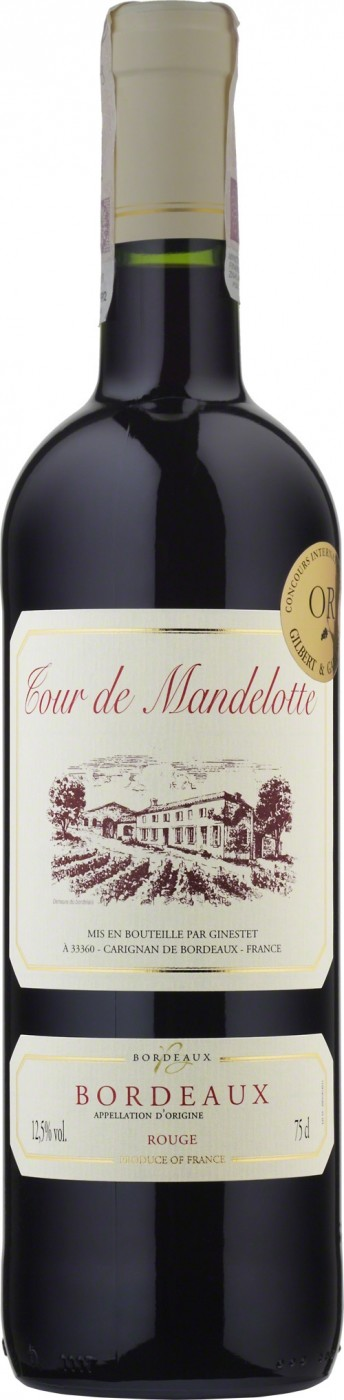 Tour de Mandelotte, Bordeaux, Rouge, Sec