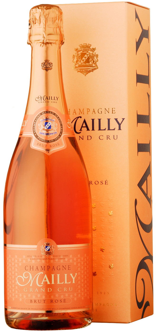 Champagne Mailly, Grand Cru Brut Rose, gift box