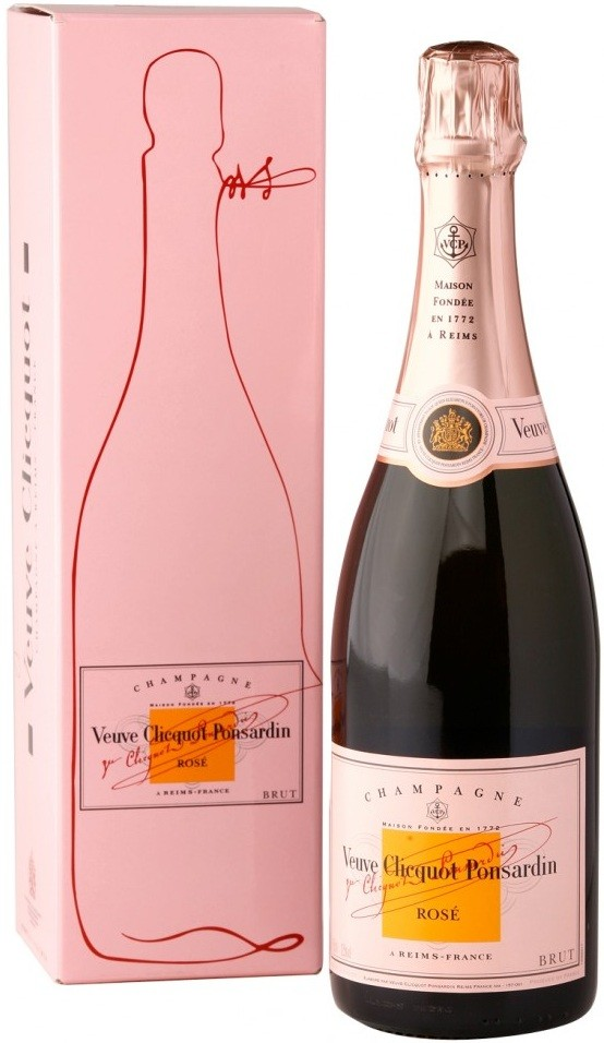 Veuve Clicquot Brut Rose, gift box