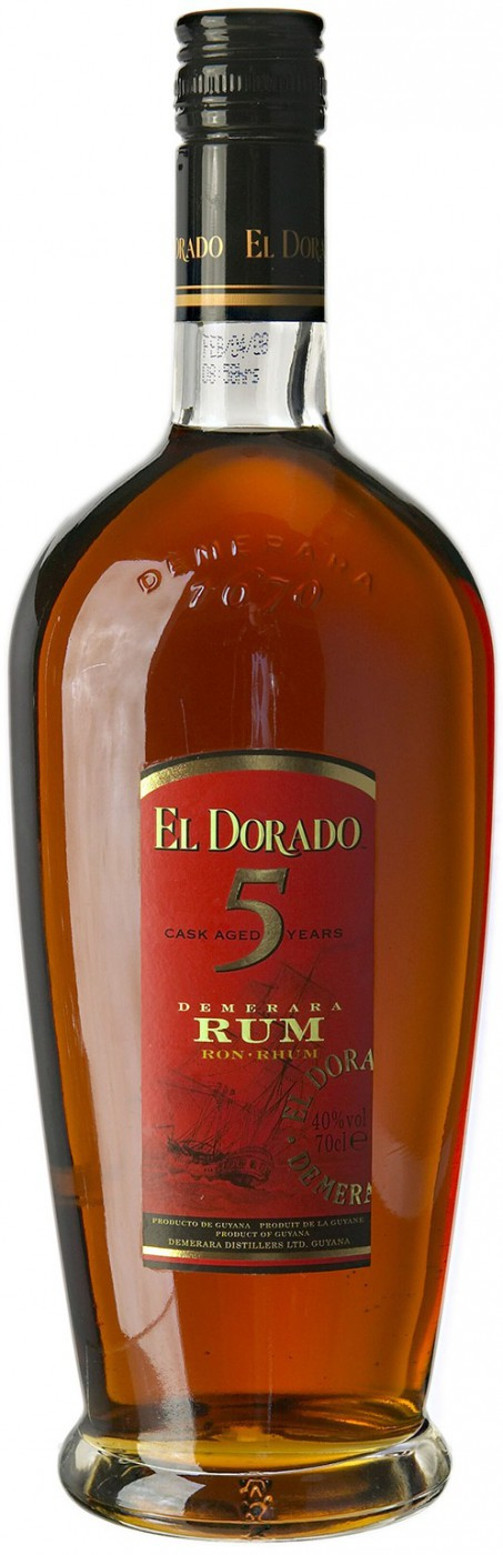 El Dorado 5 yo Cask Aged gift tube with glass