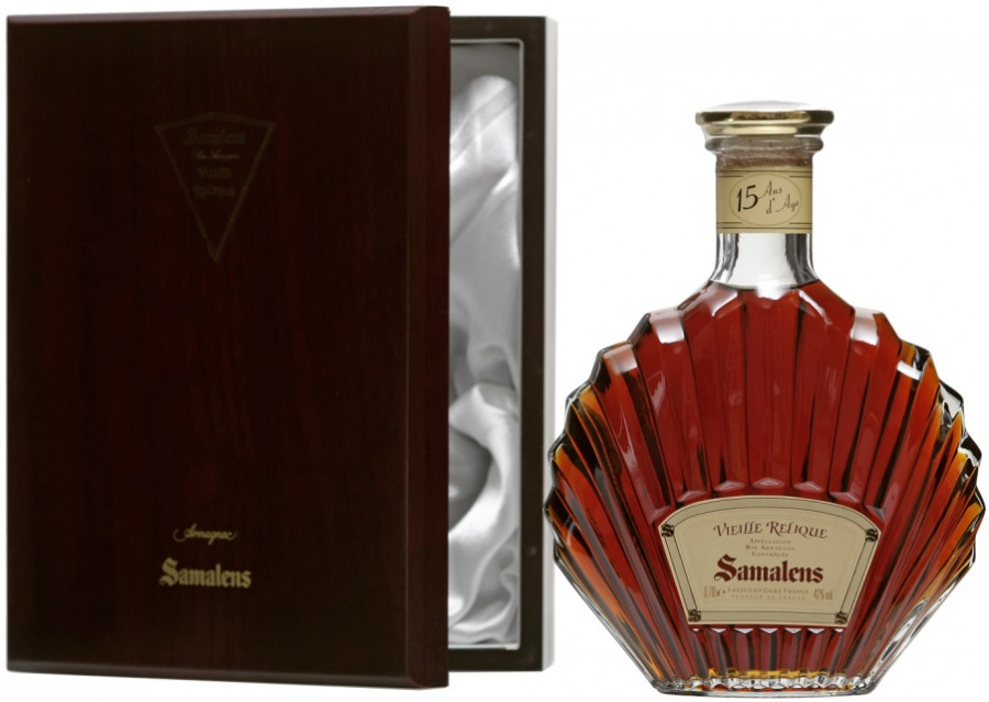 Samalens Bas Armagnac Vieille Relique in wooden box 700 мл