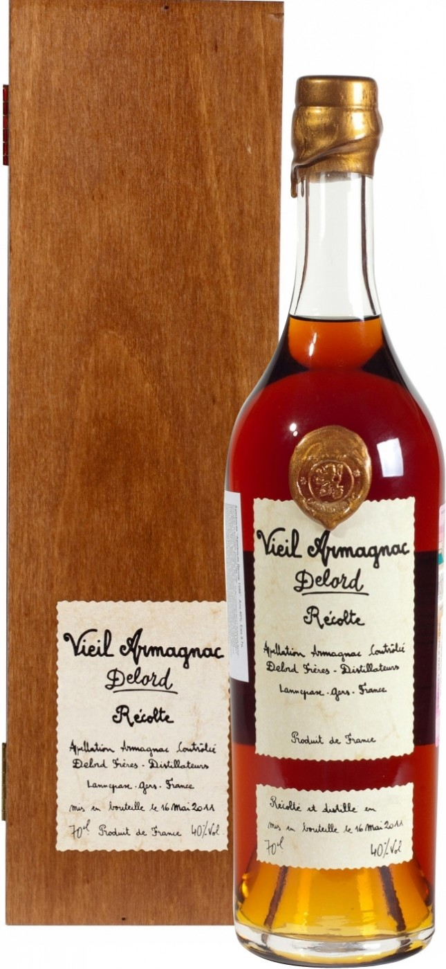 Delord Armagnac Millesime gift box 700 мл