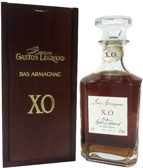 Baron G. Legrand XO Bas Armagnac decanter wooden box 700 мл
