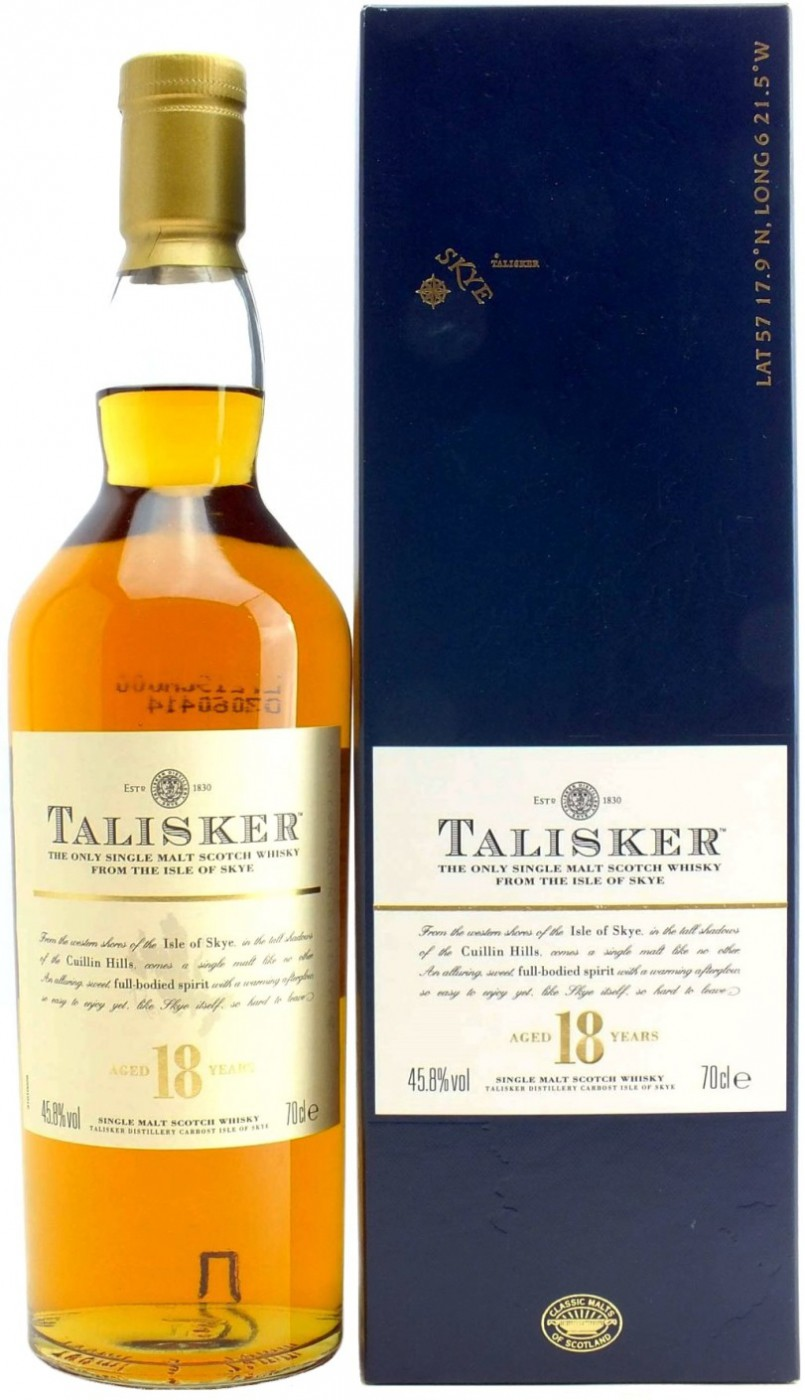 Talisker 18 Years Old gift box 0.7 л