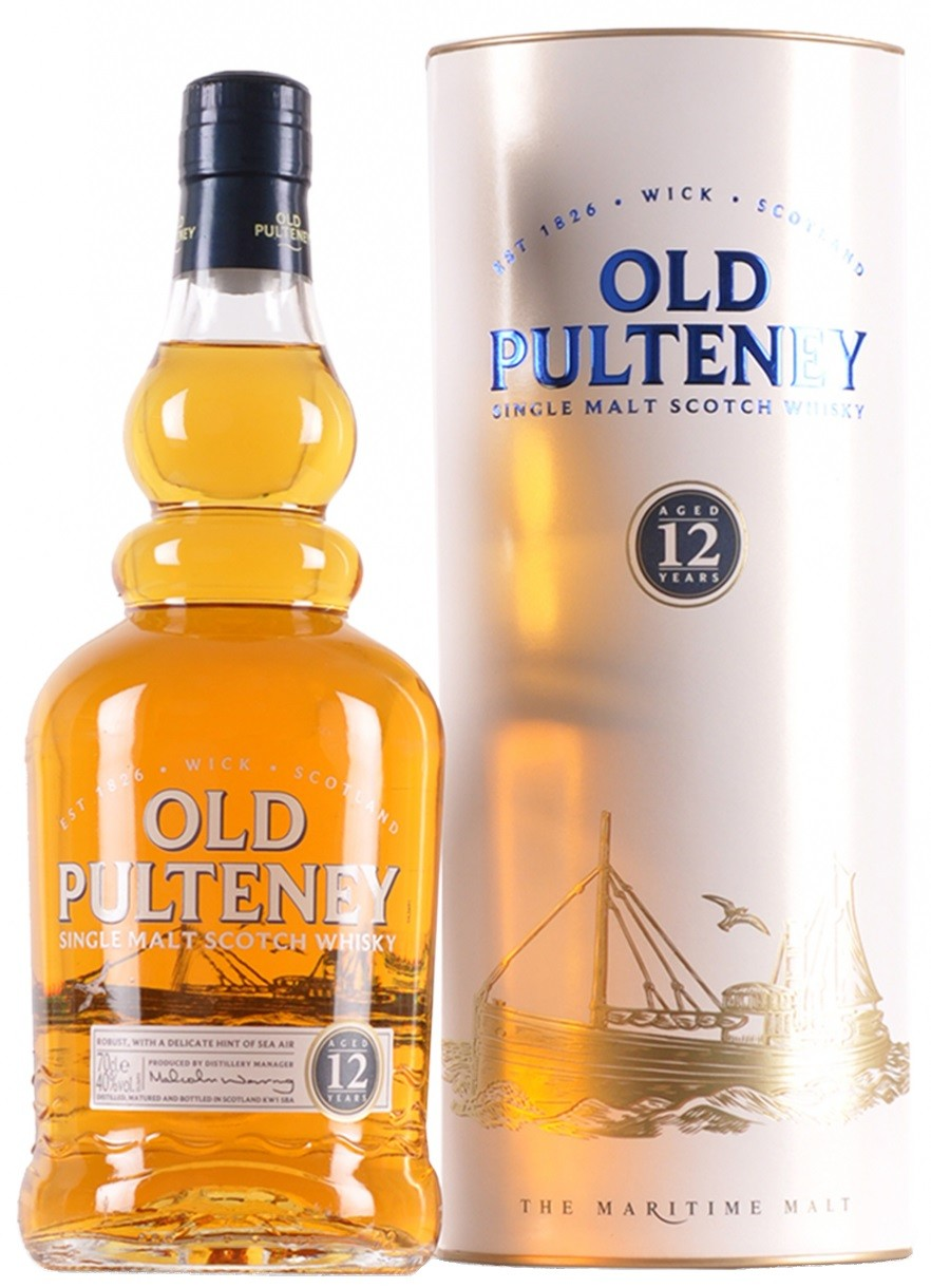 Old Pulteney 12 years in tube 0.7 л