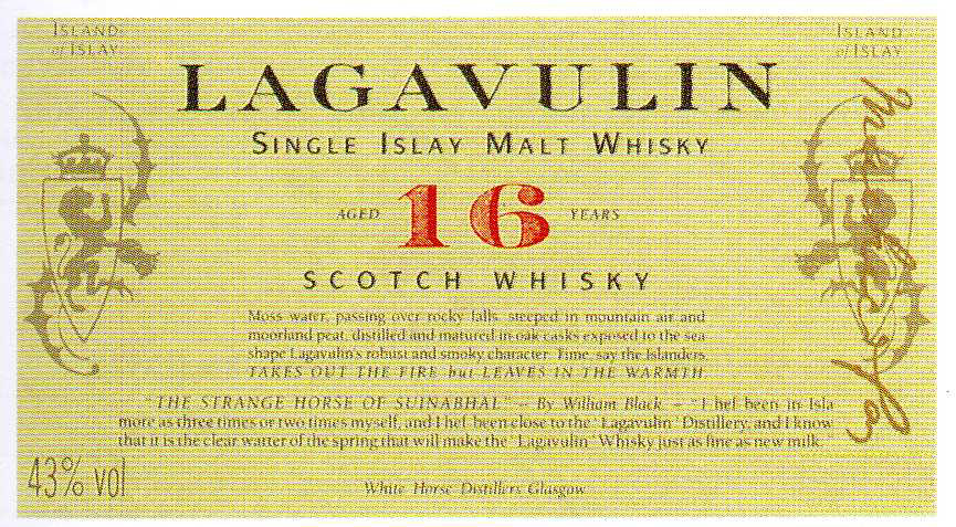 Lagavulin malt 16 years old with box 0.75 л