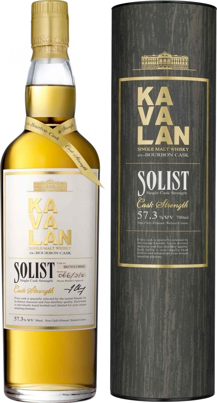Kavalan Solist Ex-Bourbon Cask in tube 0.7 л