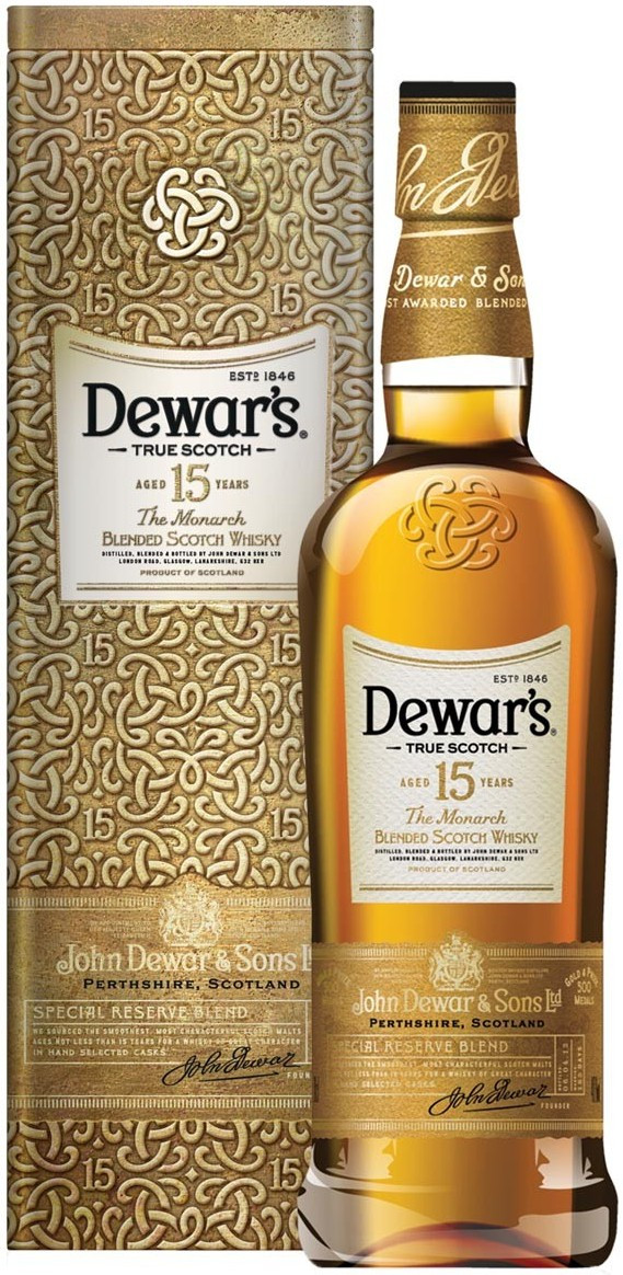 Dewar`s, The Monarch, 15 Years Old, gift box