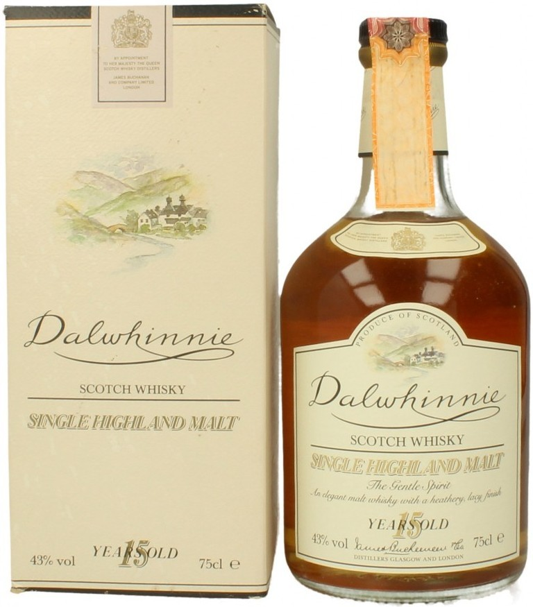 Dalwhinnie Malt 15 years old with box 0.75 л