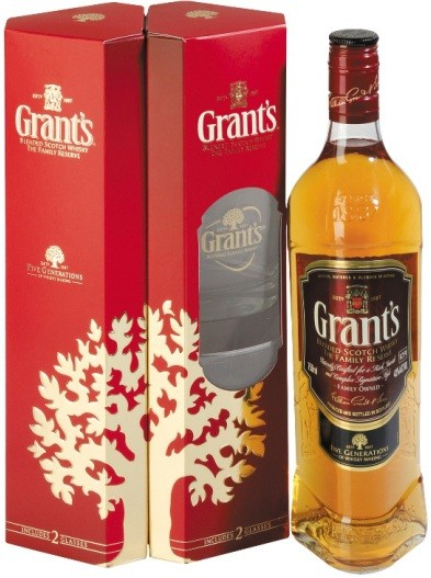 Grants Family Reserve, gift box with 2 glasses
