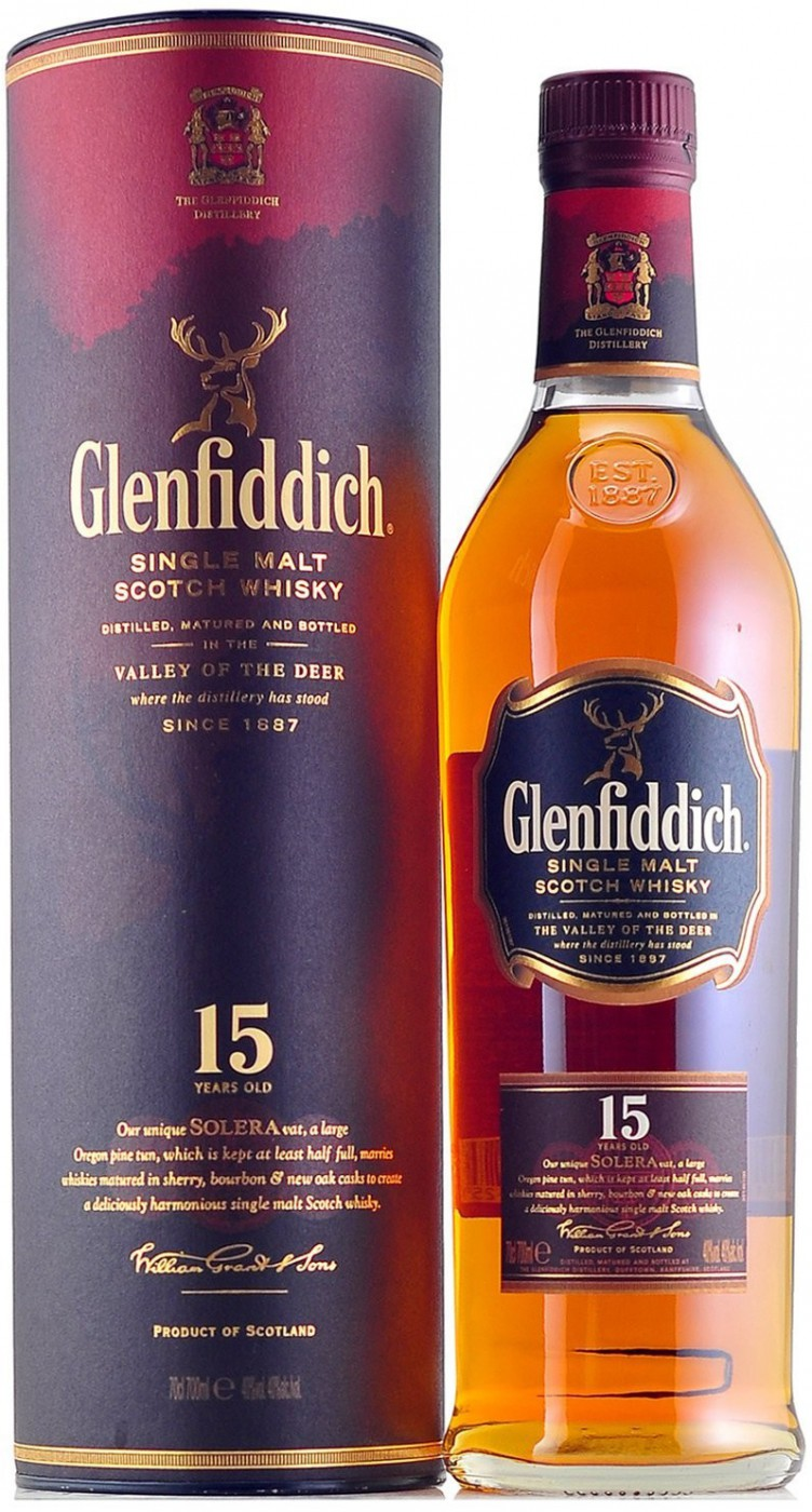 Glenfiddich, 15 Years Old, in tube