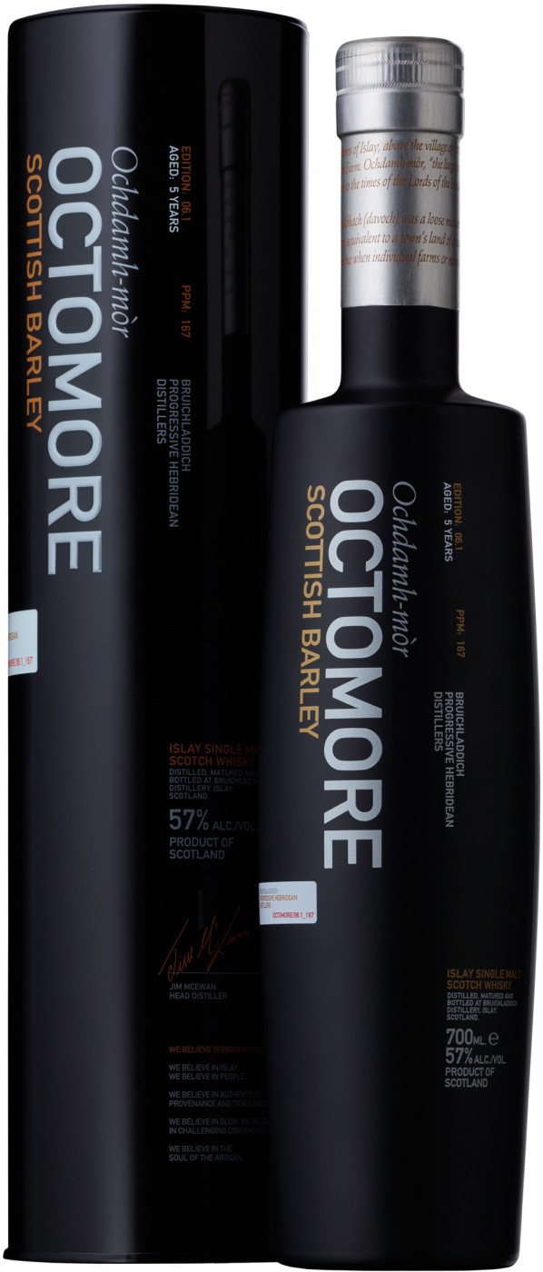Bruichladdich Octomore Scottish Barley in tube