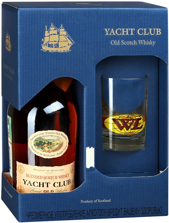 Yacht Club, gift box with glass