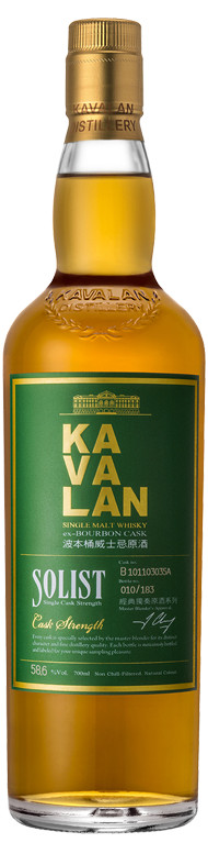 Kavalan Solist Ex-Bourbon Cask gift box with glass 0.7 л