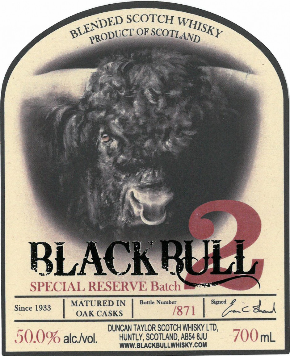 Black Bull Special Reserve No.2 in tube 0.7 л