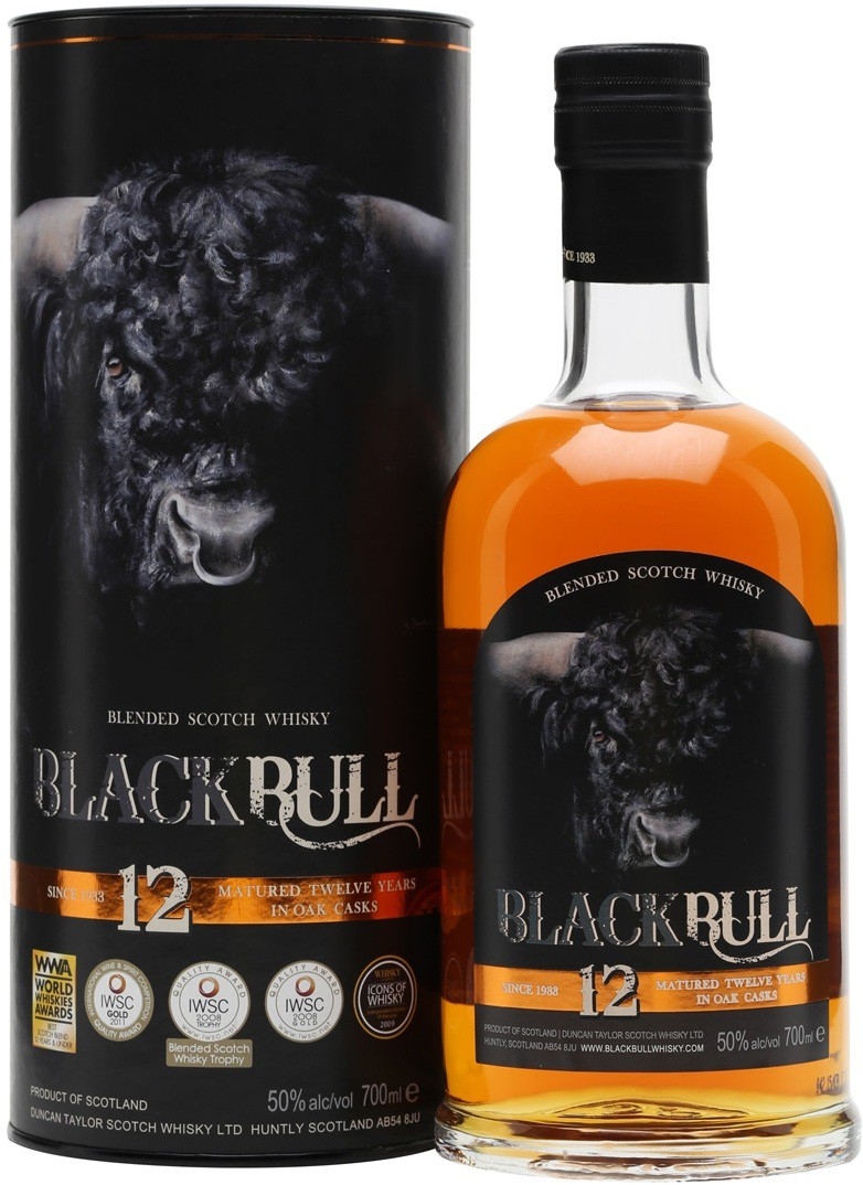 Black Bull 12 Years Old Blended Scotch Whisky gift box 0.7 л