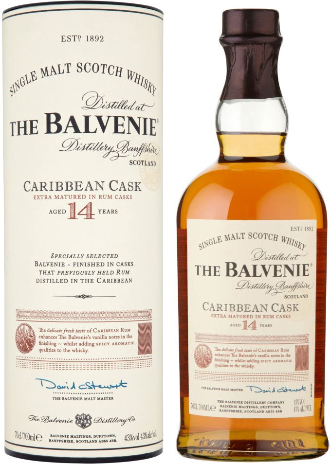 Balvenie, Caribbean Cask, 14 Years Old, in tube