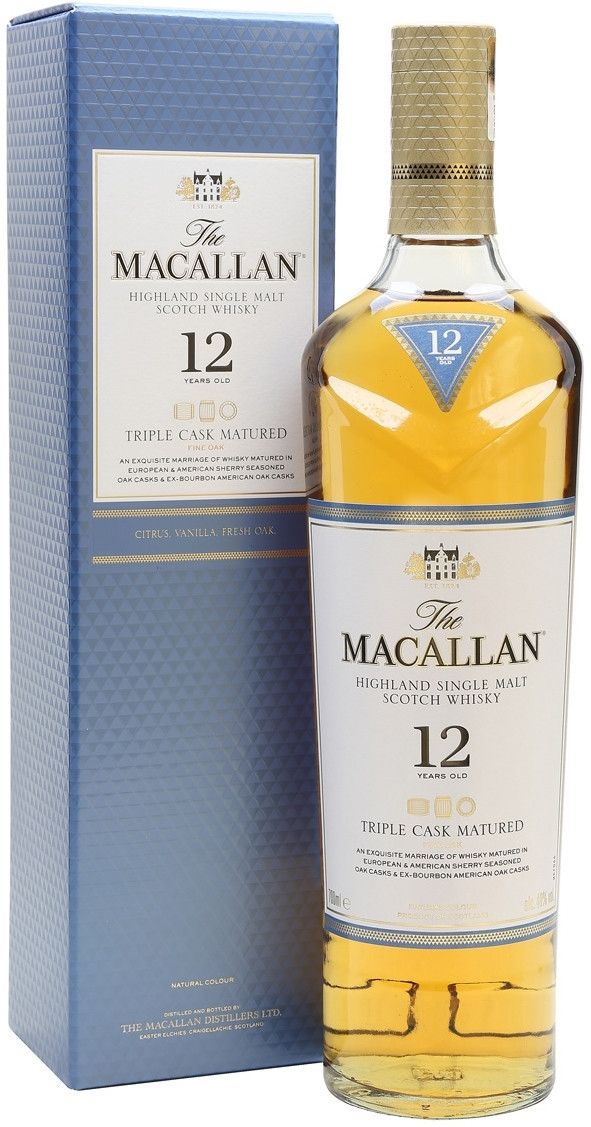 Macallan, Triple Cask Matured, 12 Years Old, gift box