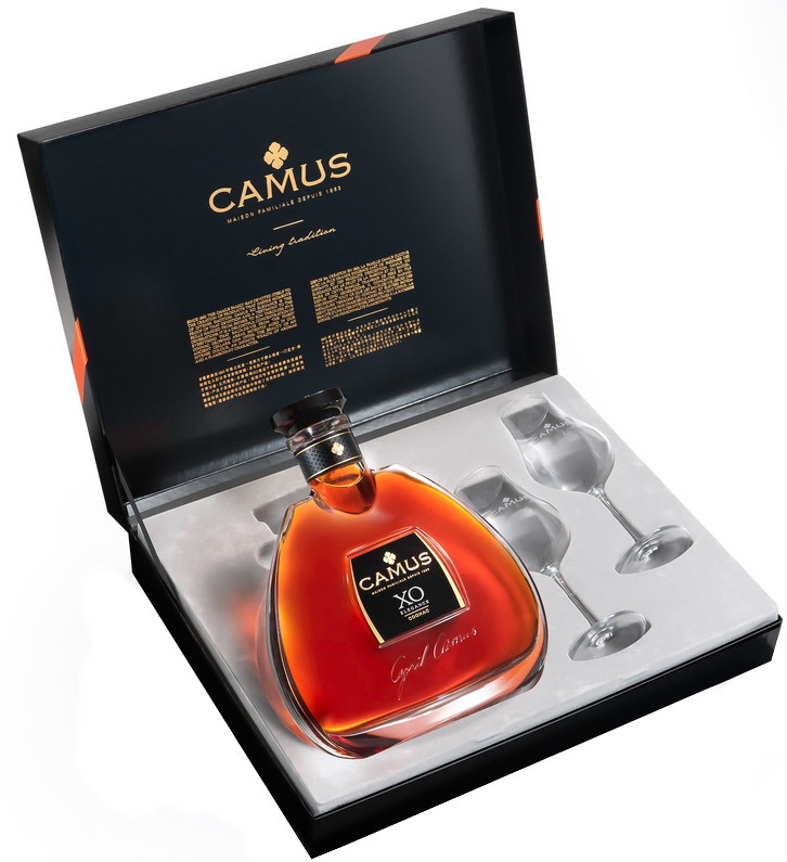 Camus, XO Elegance, gift box with 2 glasses