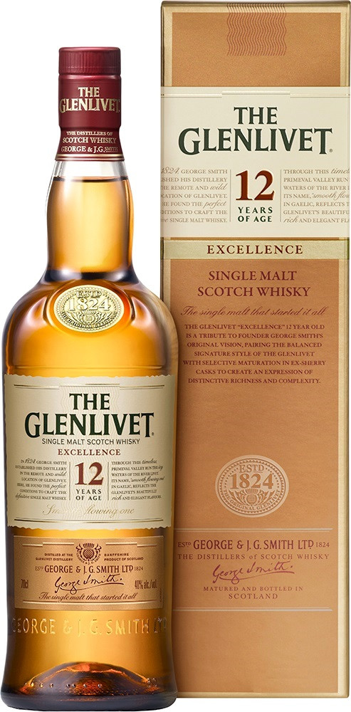 The Glenlivet, 12 Years Old, Excellence, gift box