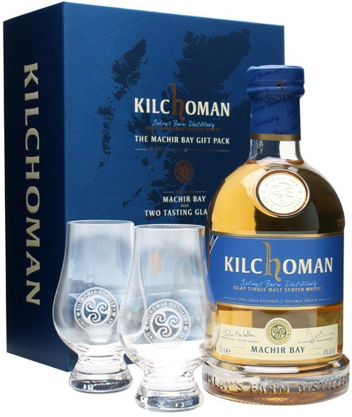Kilchoman, Machir Bay, gift box with 2 glasses