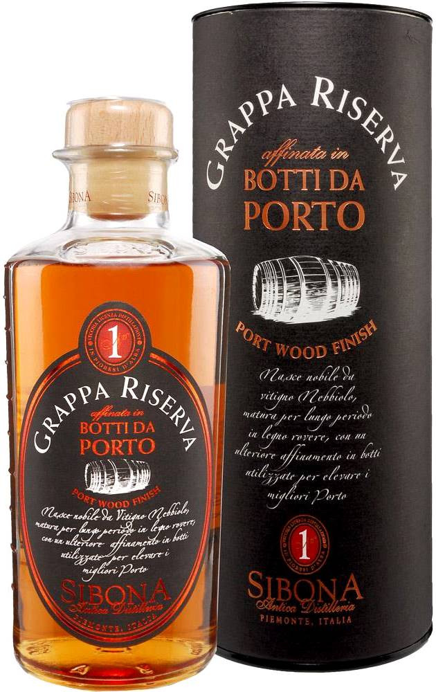 Sibona Grappa Riserva Port Wood Finish in tube 0.5 л
