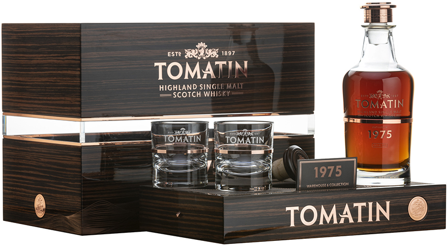 Tomatin 1975, gift pack with 2 glasses