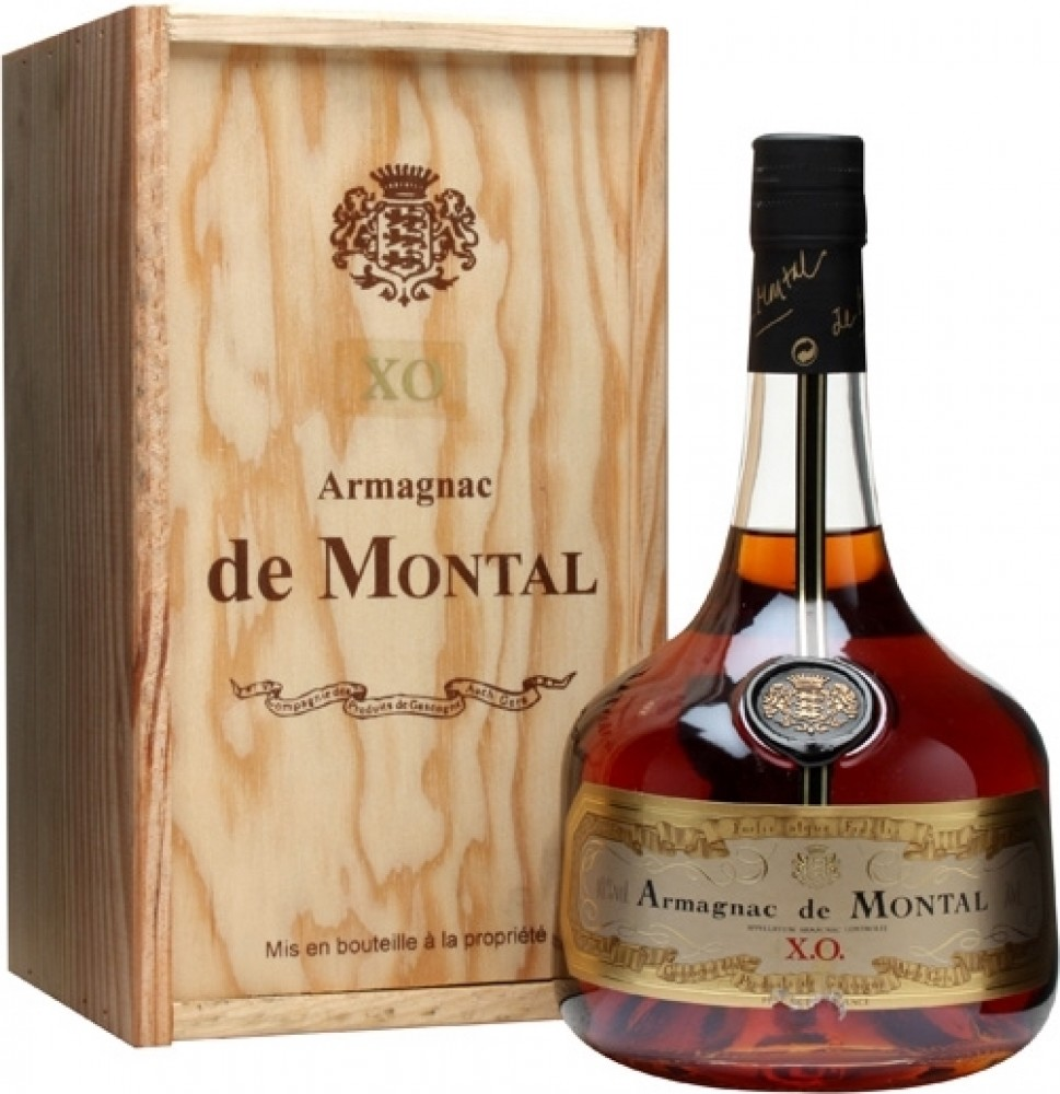 Armagnac de Montal, XO, wooden box