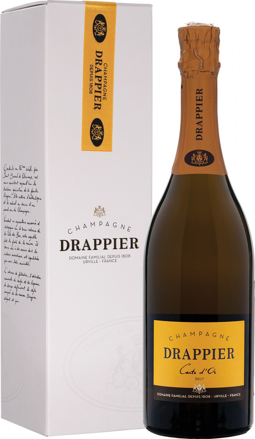 Champagne Drappier, Carte d`Or, Brut, gift box