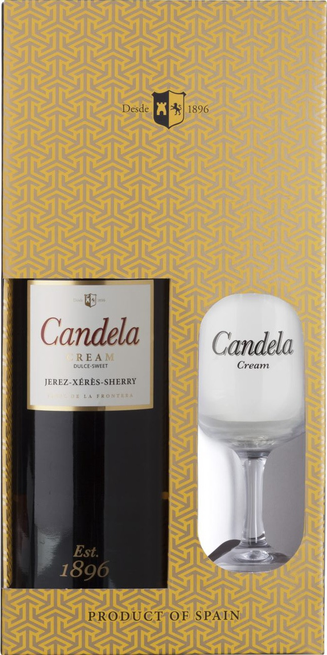 Lustau, Candela Cream, Jerez, gift box with glass