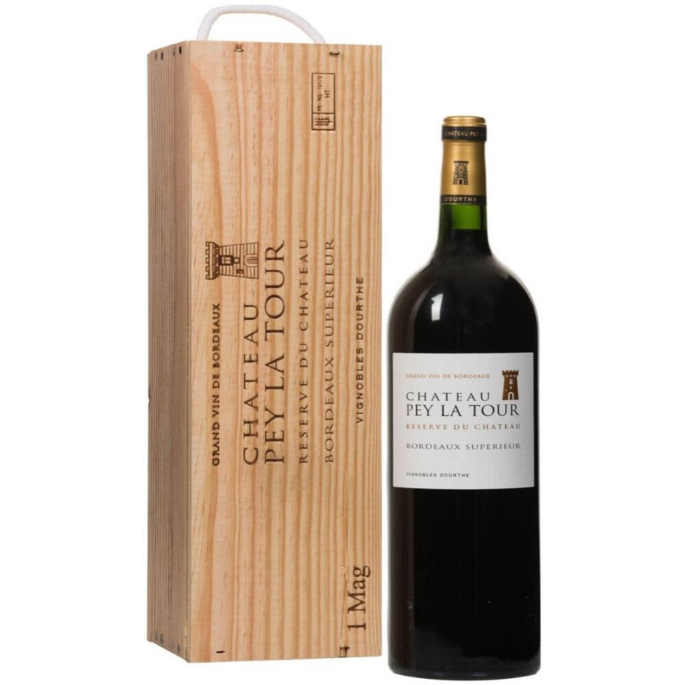 Chateau Pey La Tour, Reserve du Chateau, Bordeaux Superieur, wooden box
