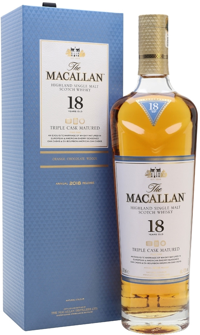 Macallan, Triple Cask Matured, 18yo, gift box