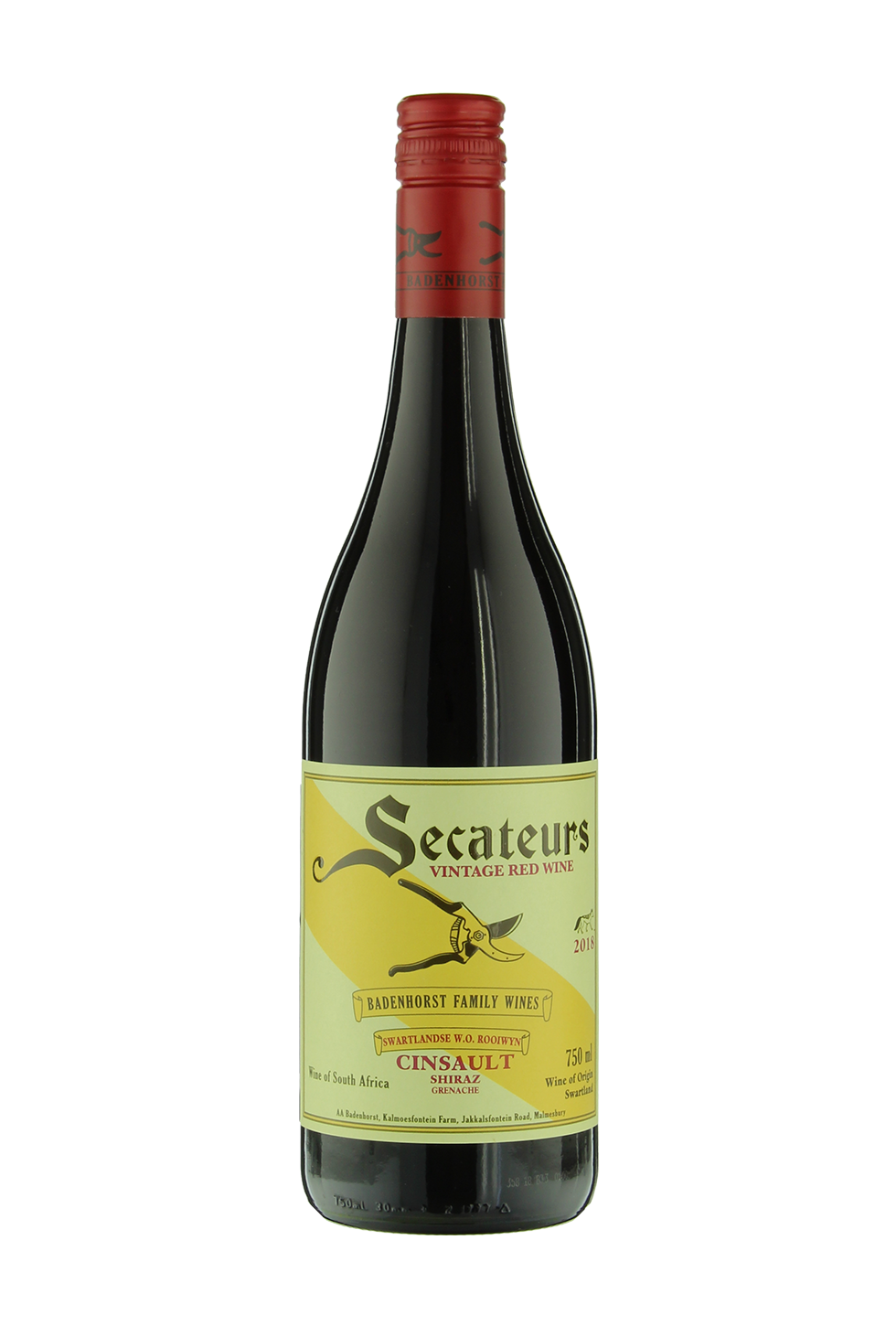 Badenhorst Family, Wines Secateurs, Swartland, Red