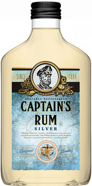 Captain` Rum, Silver, Bitter, Flask
