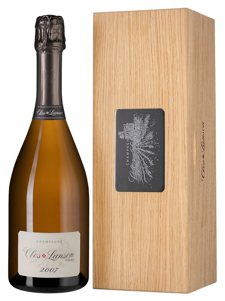 Clos Lanson Blanc de Blancs in wooden giftbox