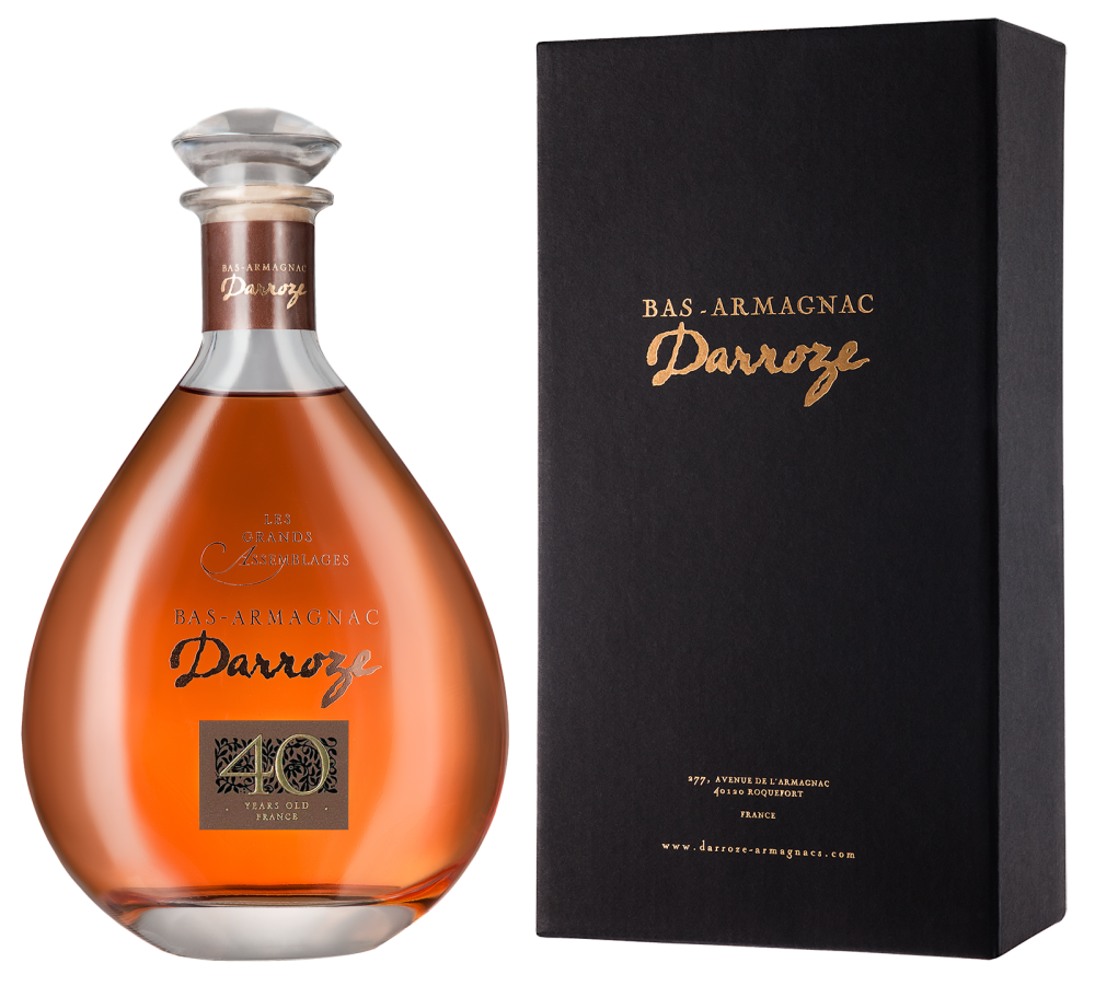 Darroze Les Grands Assemblages 40 ans d'age in decanter and gift box