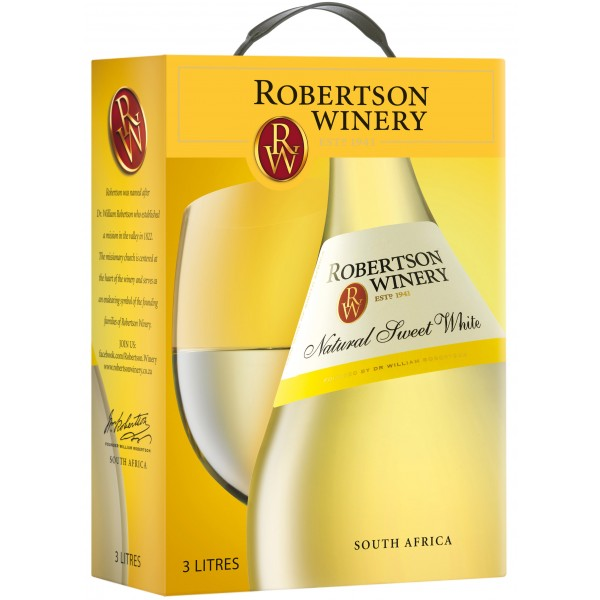 Robertson Winery, Natural, Sweet, White, bag-in-box