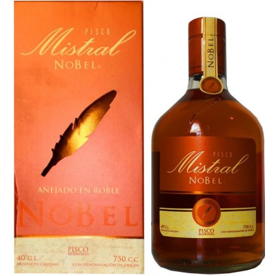 Pisco Mistral Nobel gift box 0.75 л