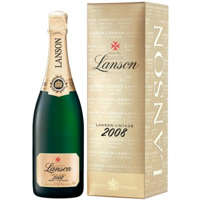 Lanson, Gold Label, Brut, Vintage 2008, gift box